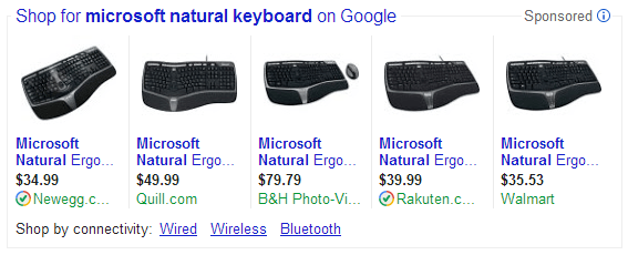 PLAs Microsoft Natural Keyboard Example