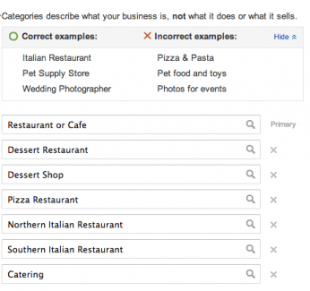 Select up to 10 categories in new Places for Business Dashboard
