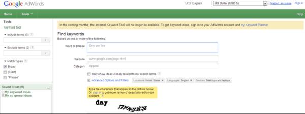 Adwords Keyword Tool Shutting Down for Keyword Planner