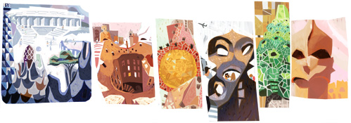 Google Doodle Antoni Gaudi