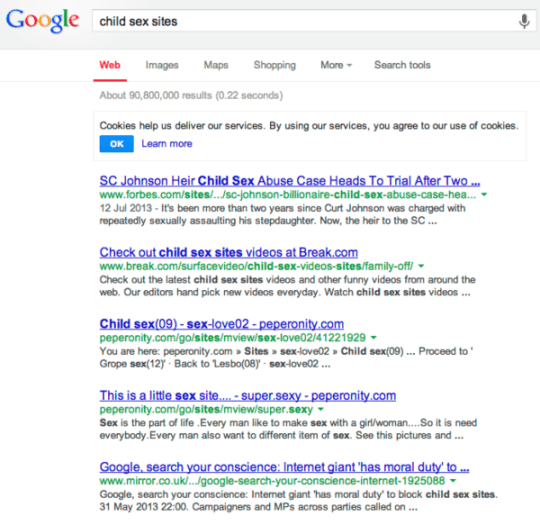 child sex sites - Google Search