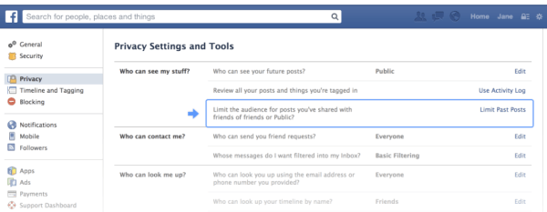 Facebook privacy settings_Oct2013