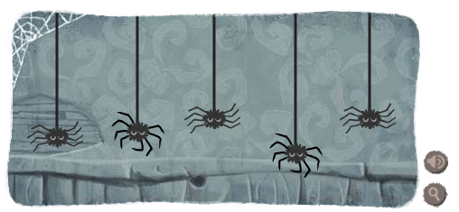 Google Logo Spiders