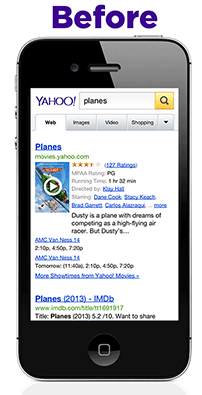 Yahoo iOS mobile_before