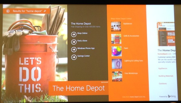 bing ads hero ads home depot