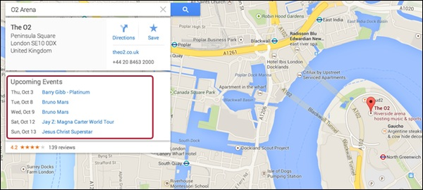 google-maps-event-cards