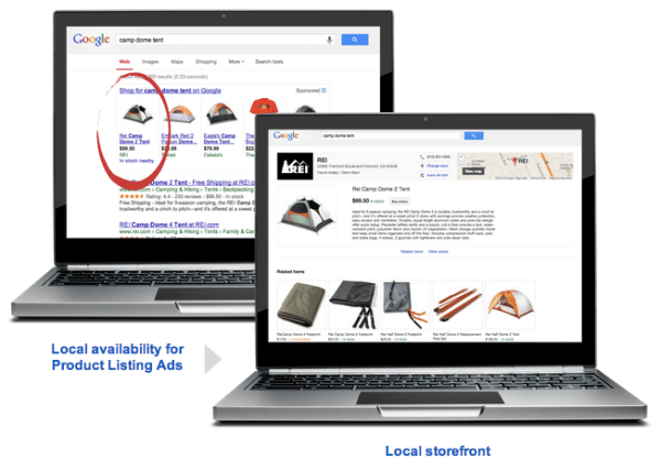 Google local storefront product listing ads