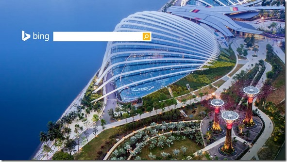 Bing Homepage Gardens By the Bay