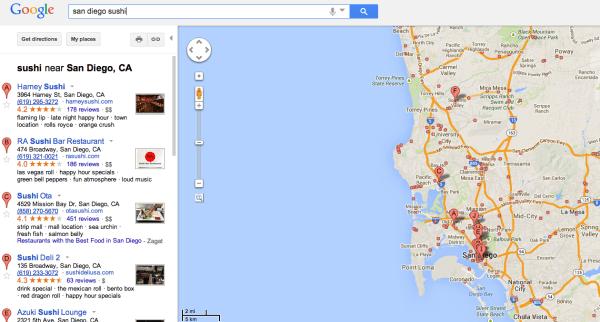 Old Google Maps Sushi