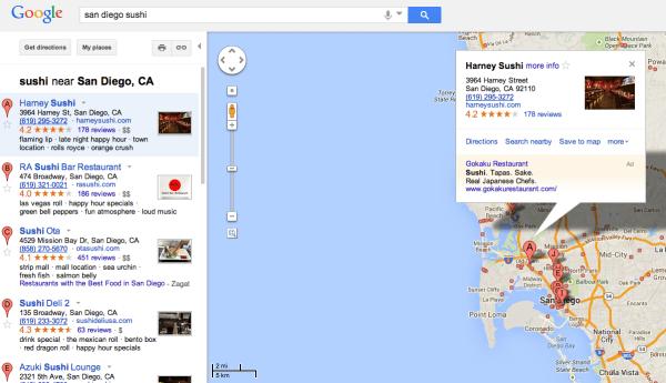 Old Google Maps UI
