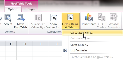Qxcel tips pivot table calculated fields