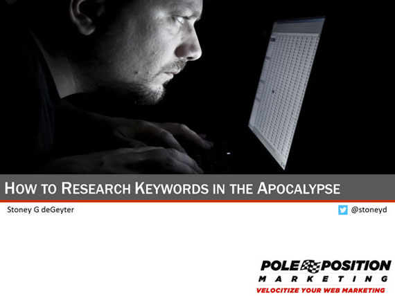 How to Research Keywords in the Apocalypse