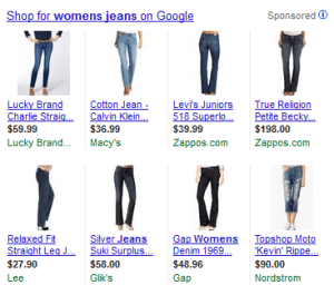 Google shopping PLAs