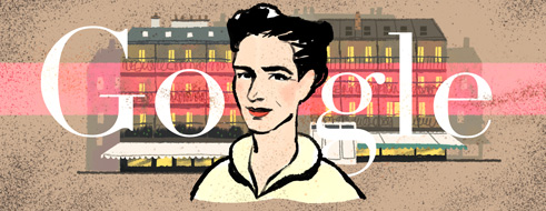 simone-de-beauvoirs-106th-birthday google logo