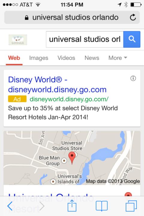 serp universal studios