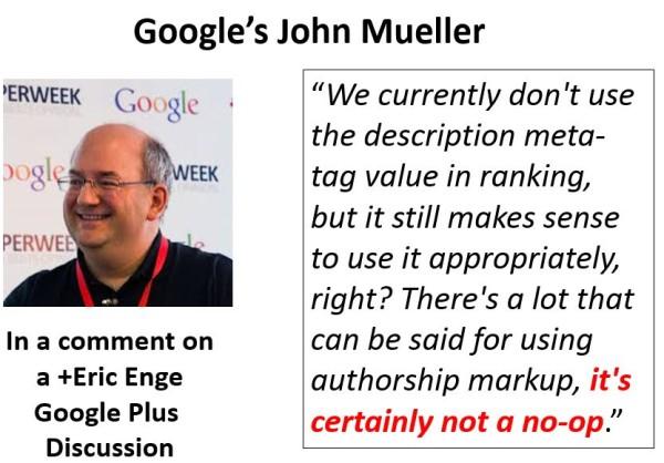 John Mueller on Authorship