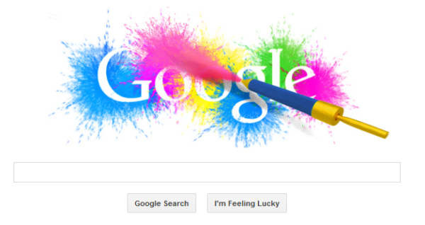 Holi Google logo
