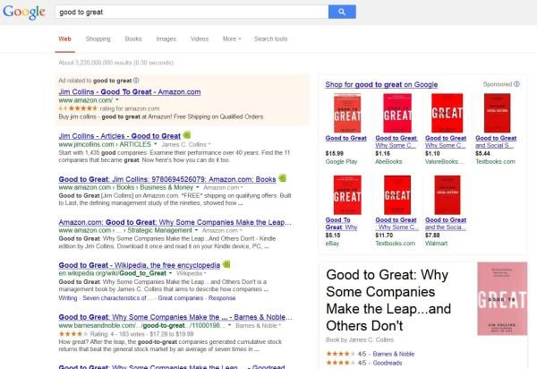 Google PLAs for books
