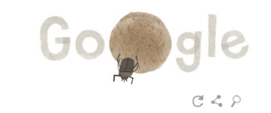 Google Earth Day logo Dung Beetle