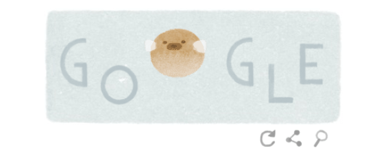 Google Earth Day logo Puffer Fish