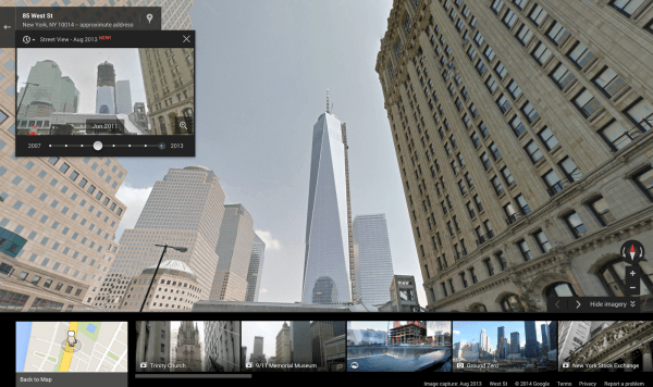Google maps street view freedom tower