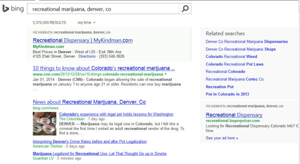 Recreational Marijuana Search - Bing