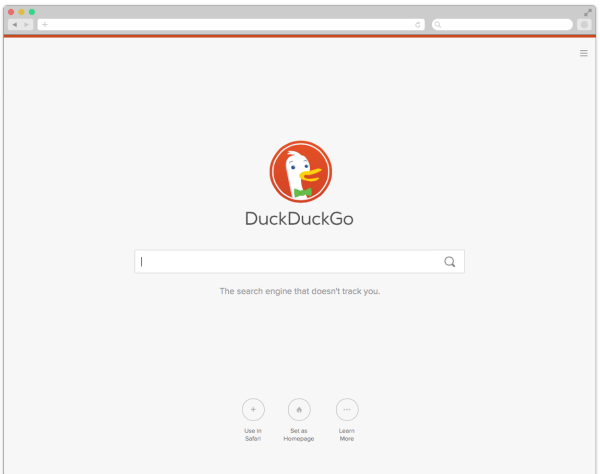 DuckDuckGo New homepage