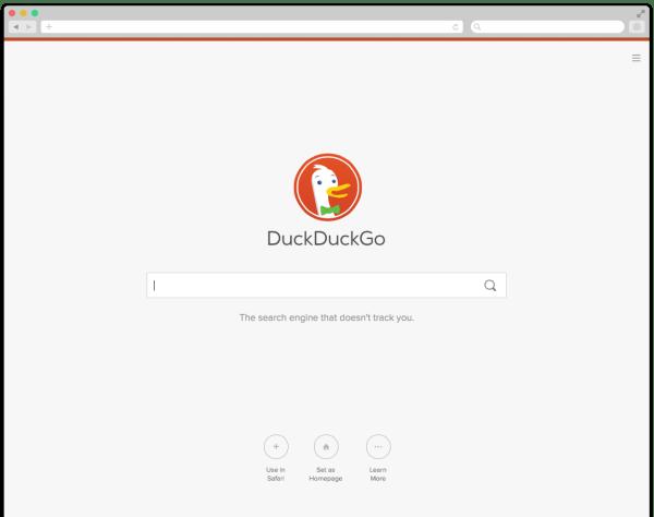 DuckDuckGo New homepage