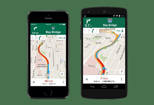 Google Maps Lane Navigation