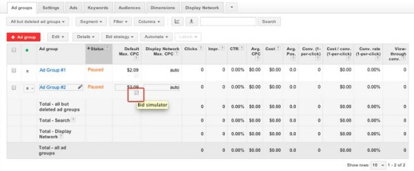 adwords bid simulator dynamic search ads