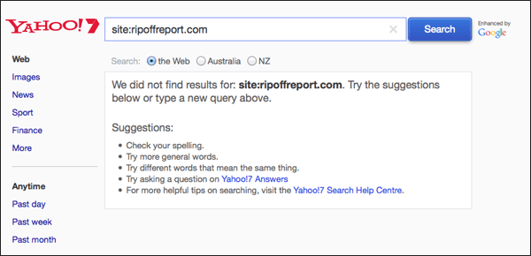 yahoo7-ripoff-report
