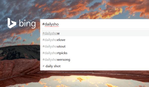 Bing Tweets autocomplete