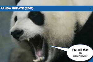 Panda update and UX