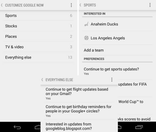 google now controls