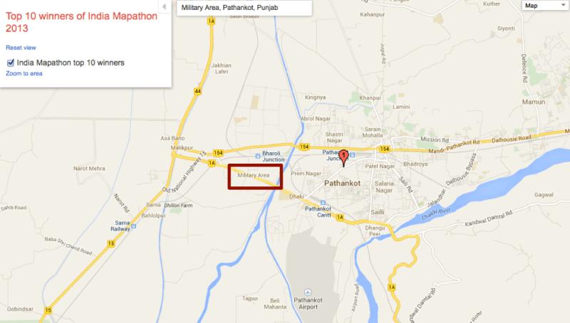 Google India Military Area