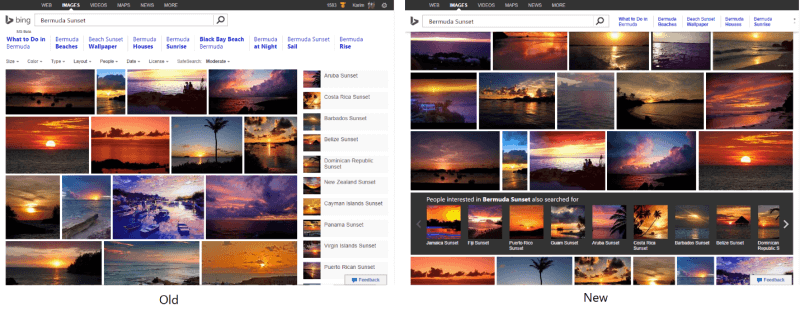 Bing Image Search mini header