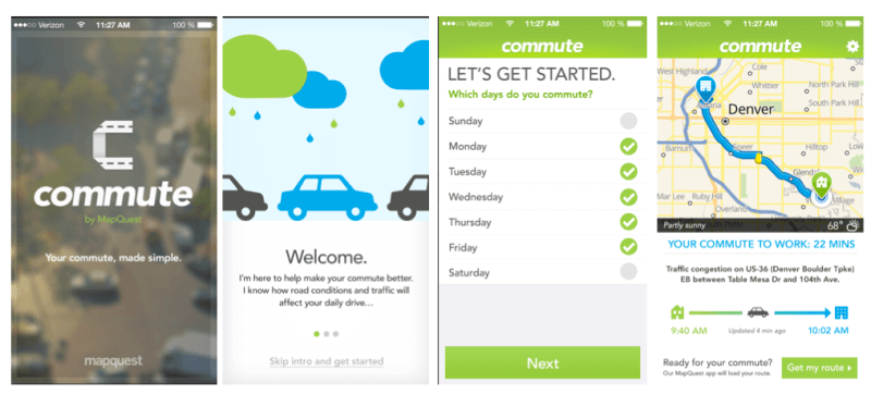 Mapquest Commute app