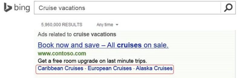 Bing Ads Dynamic Sitelinks