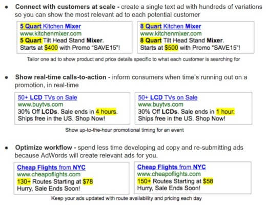 Google AdWords Ad Customizers