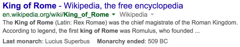 google-king-of-rome