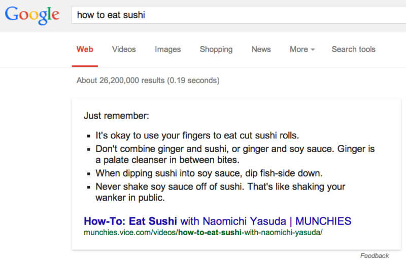 How To Eat Sushi - Google