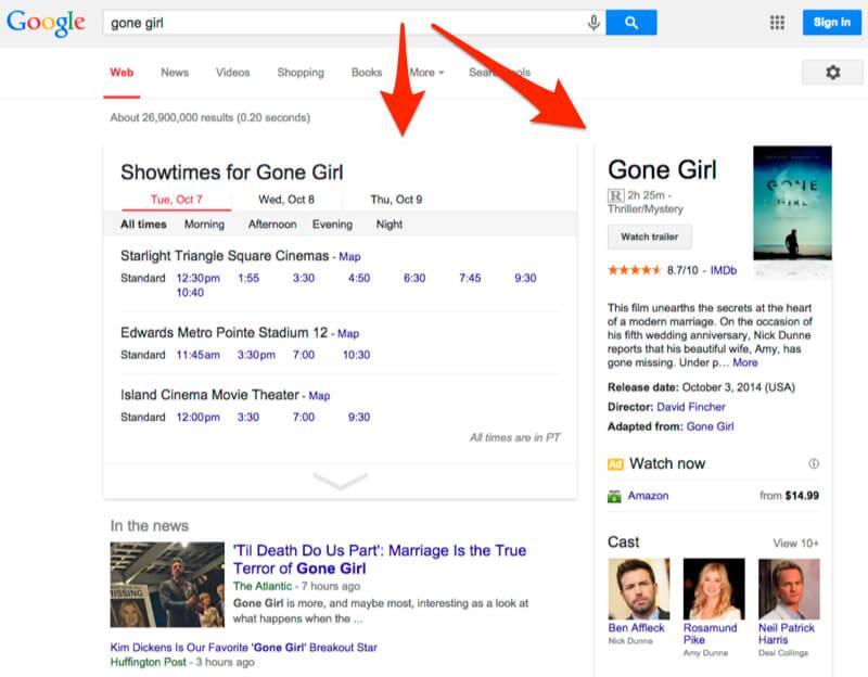gone girl google