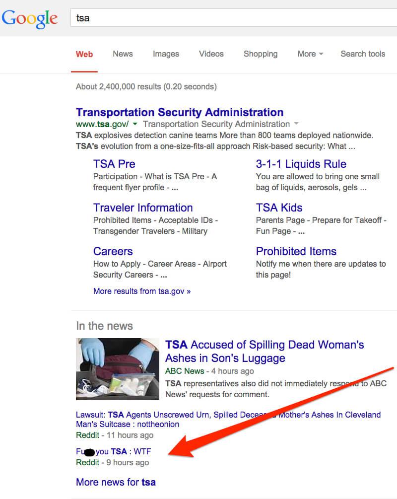 tsa reddit google