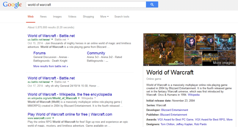 video game in knowledge graph