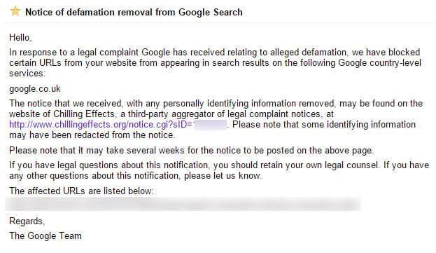 google-defamation