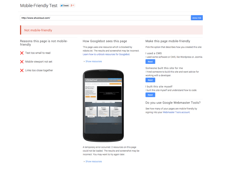 Google Launches Mobile Friendly Test Tool