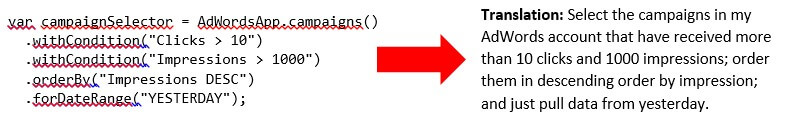 adwords scripts selectors