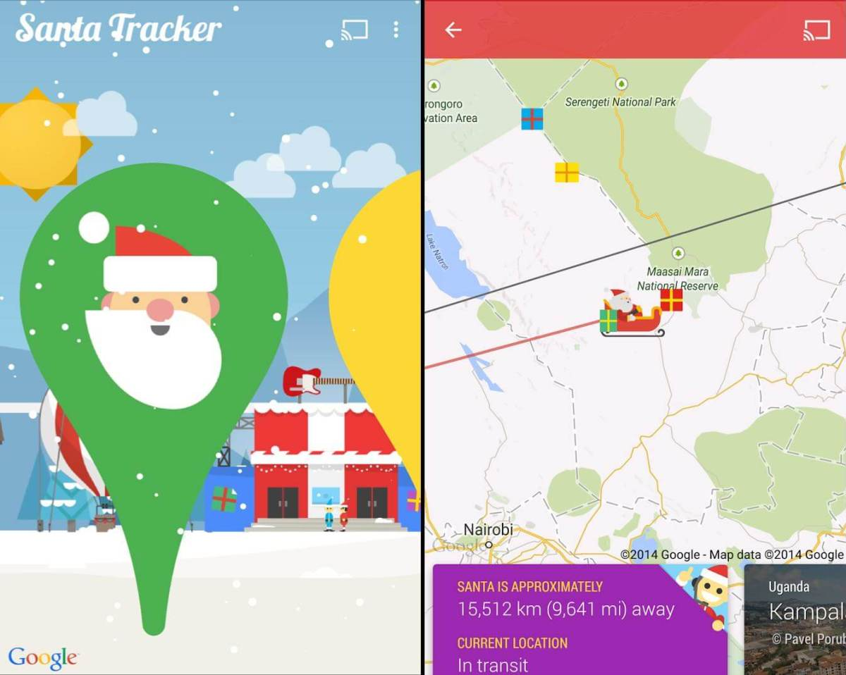 android santa tracker