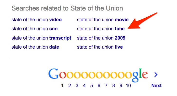 state of the union google related