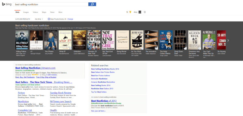 bing book nonfiction results